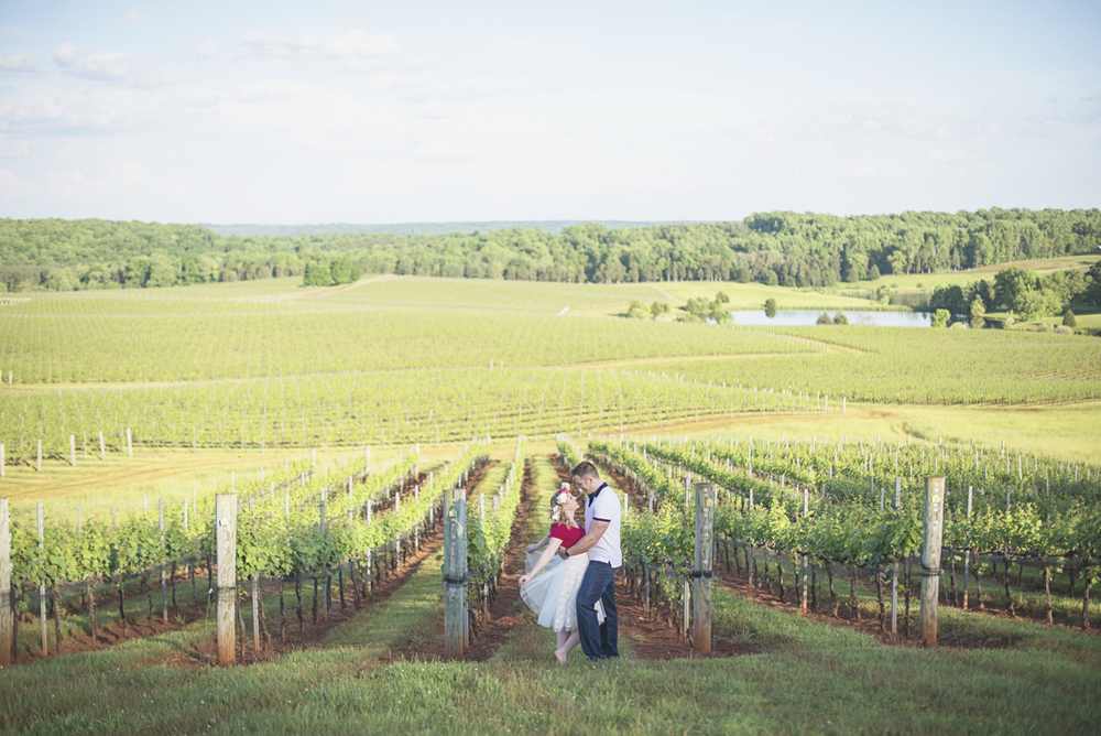 Albemarle Estate at Trump Winery Engagement Session | Winery Spring Engagement Session