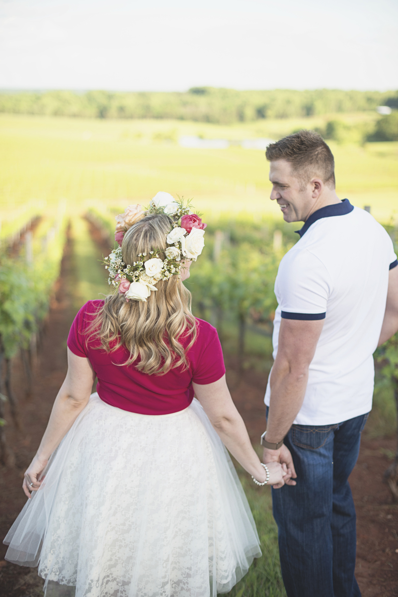 Albemarle Estate at Trump Winery Engagement Session | Bohemian Engagement Session