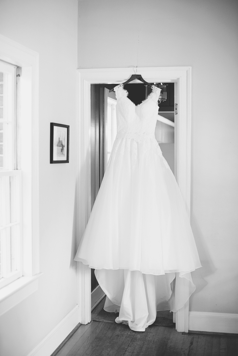 Blush and White Historic Church Wedding | Smithfield, Virginia | Wedding dress