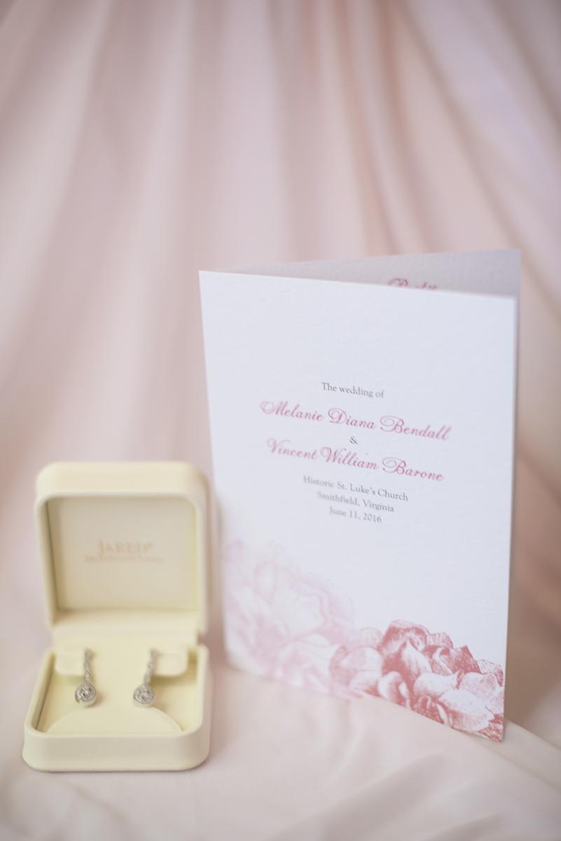 Blush and White Historic Church Wedding | Smithfield, Virginia | Wedding details