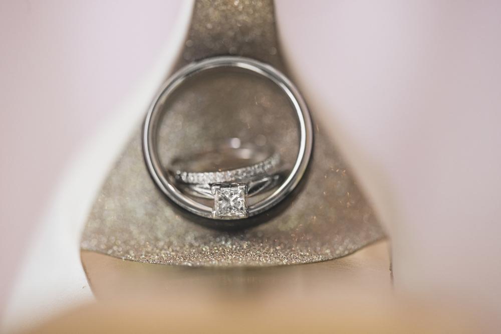 Blush and White Historic Church Wedding | Smithfield, Virginia | Wedding ring shoe shot