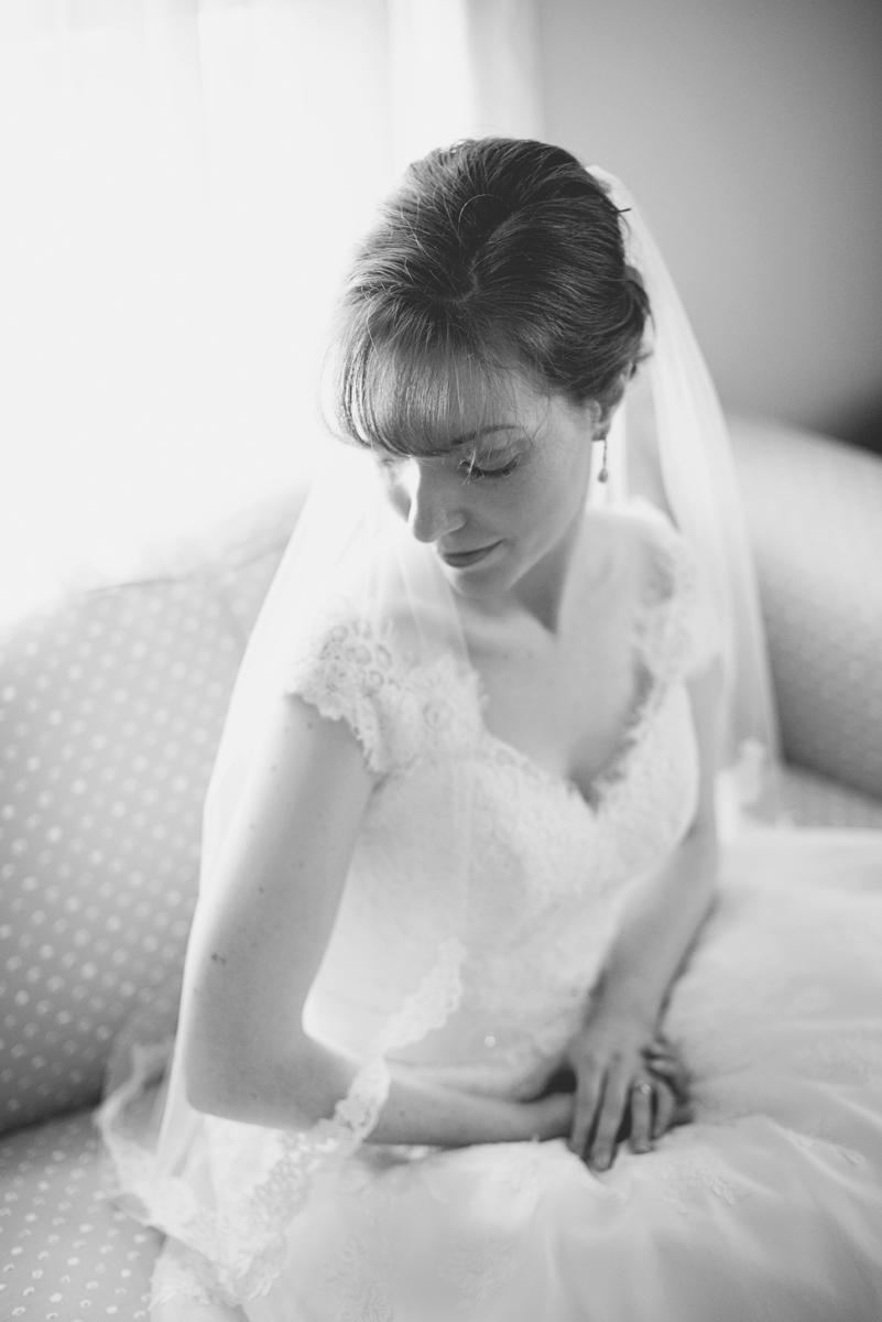 Blush and White Historic Church Wedding | Smithfield, Virginia | Bridal portrait