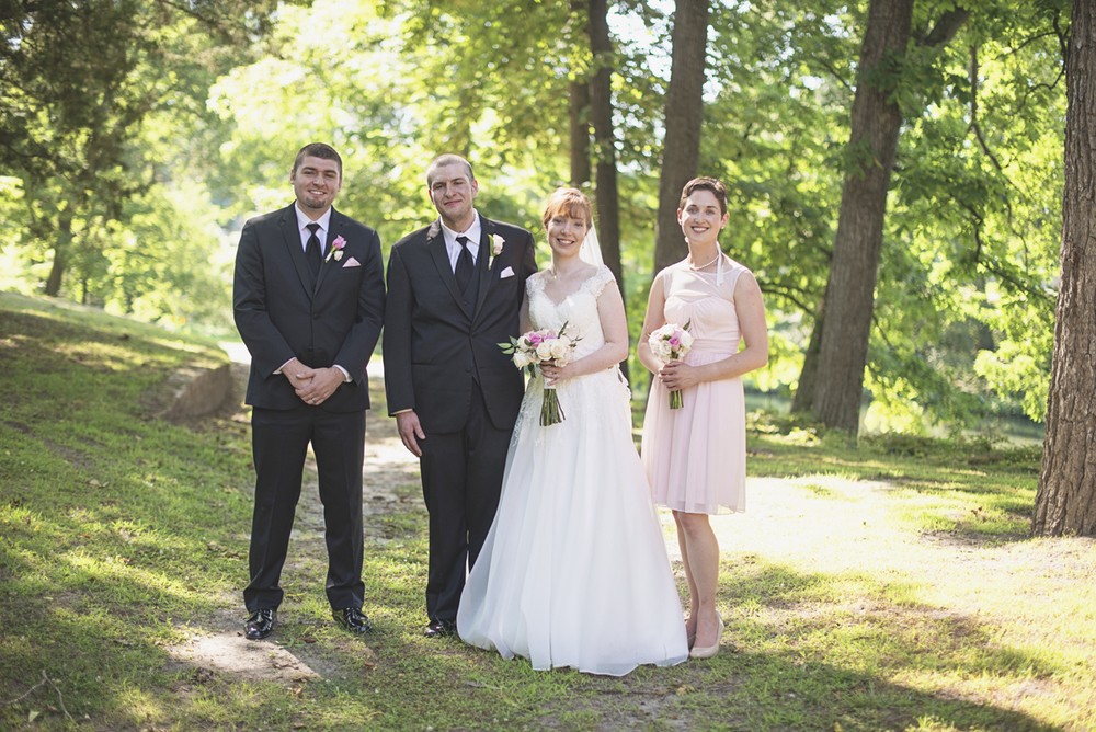 Blush and White Historic Church Wedding | Smithfield, Virginia | Black and blush bridal party portraits