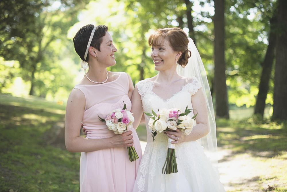 Blush and White Historic Church Wedding | Smithfield, Virginia | Blush bridal party portraits