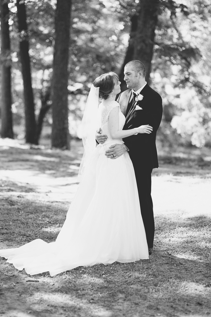 Blush and White Historic Church Wedding | Smithfield, Virginia | Bride and groom portraits