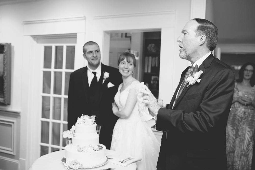 Blush and White Historic Church Wedding | Smithfield, Virginia | Wedding toasts