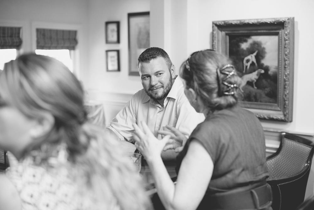 Blush and White Historic Church Wedding | Smithfield, Virginia | Wedding reception