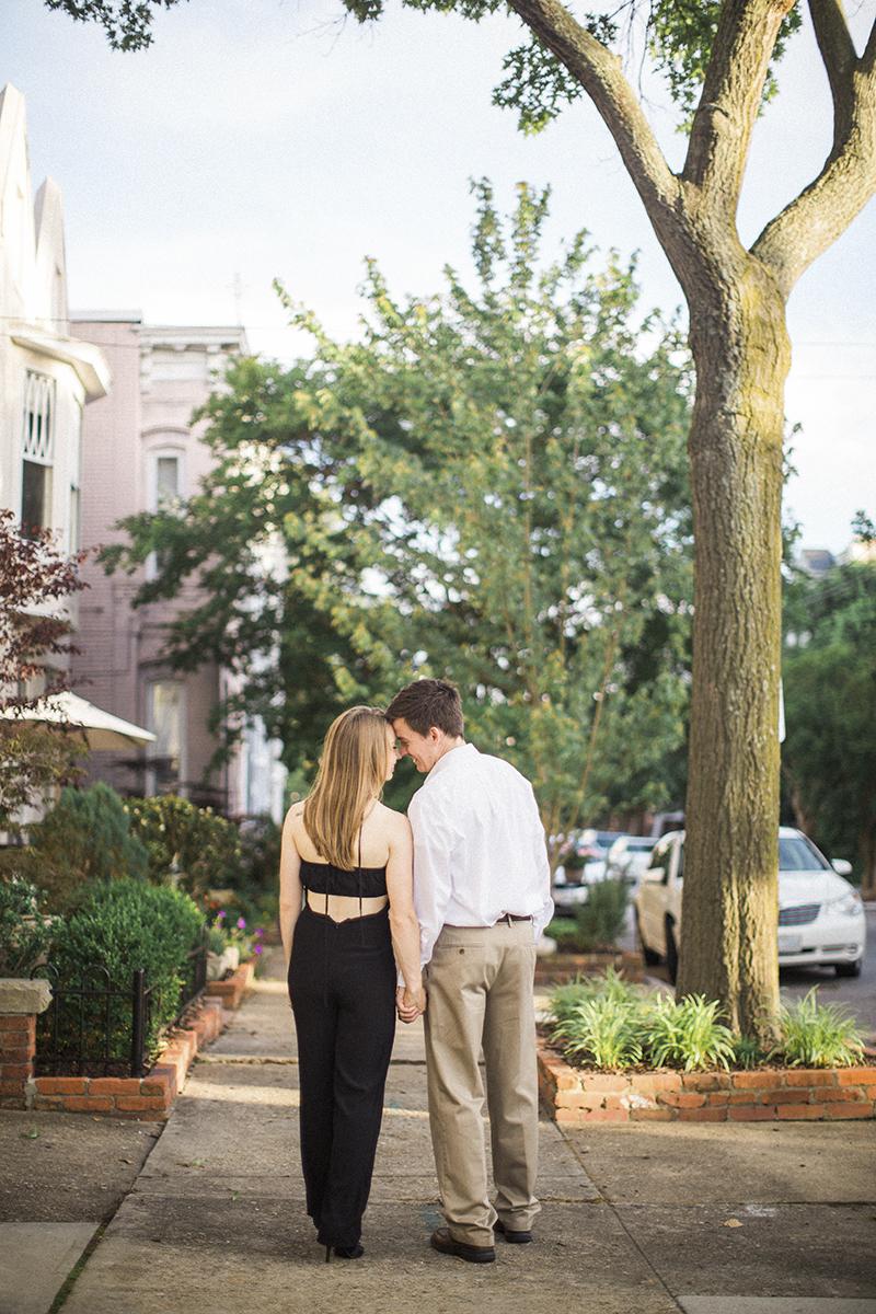 Elegant Sunset Engagement Session | Downtown Norfolk Virginia