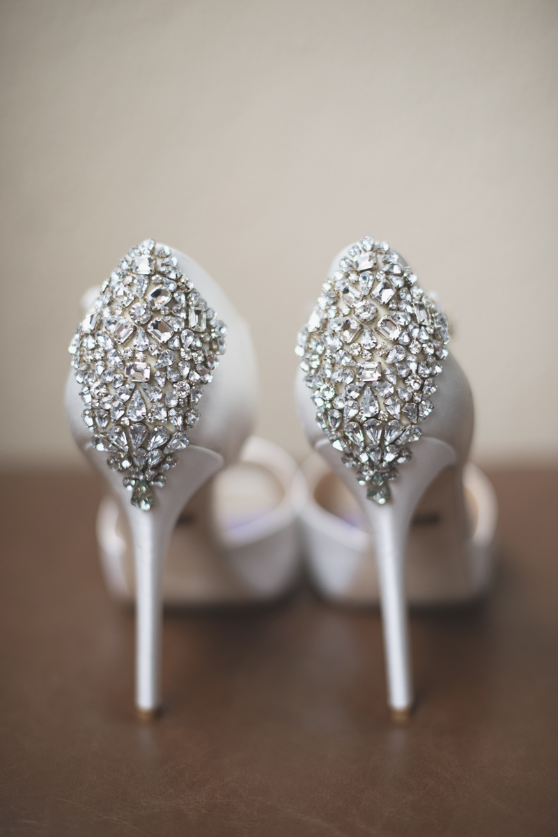 Great Gatsby Themed Urban Wedding | Badgley Mischka white heels