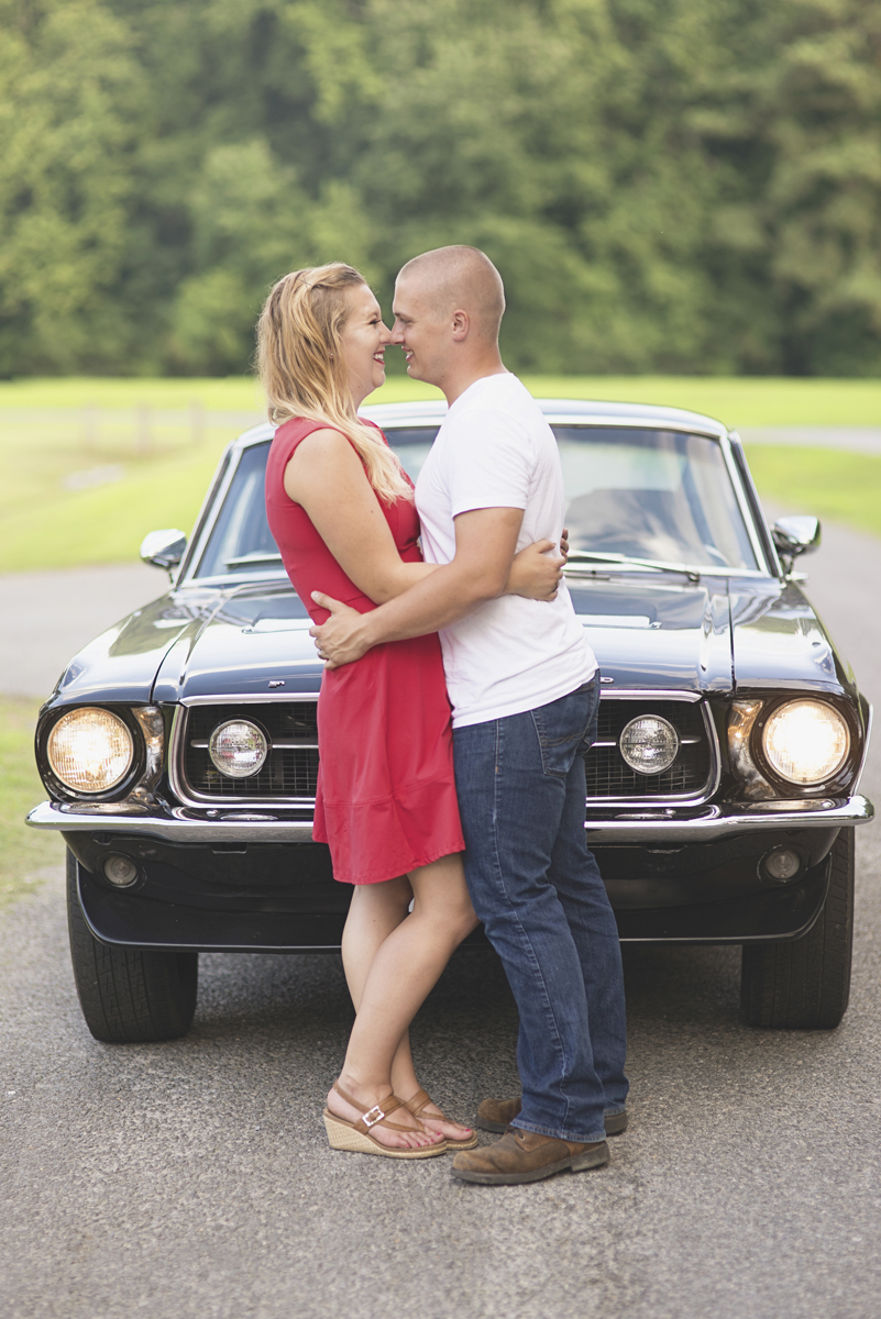 5 year vow renewal anniversary portraits | 1967 Black Ford Musting | Suffolk, Virginia