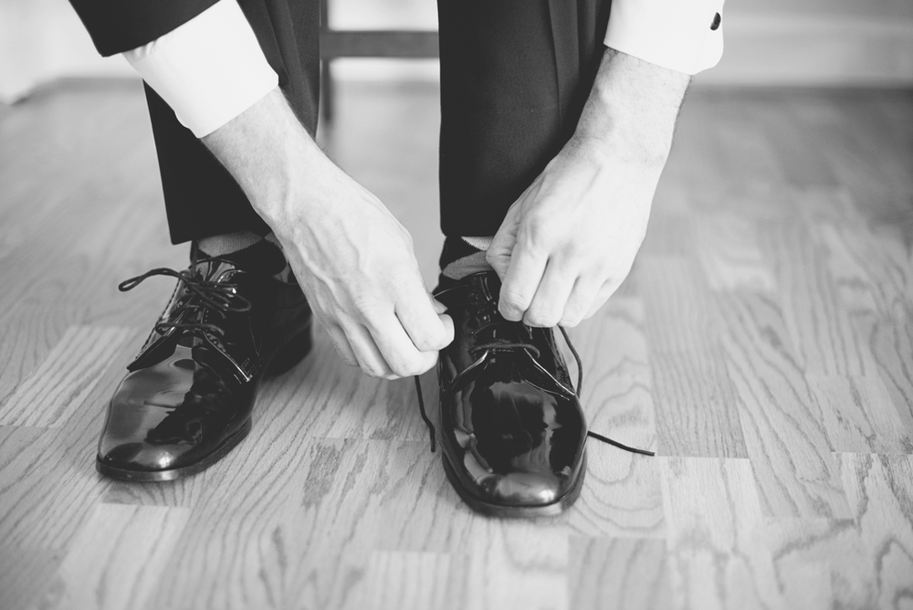 Groomsmen Getting Ready Shoes