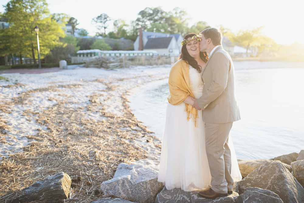 Glowy Sunset Yorktown Freight Shed Wedding
