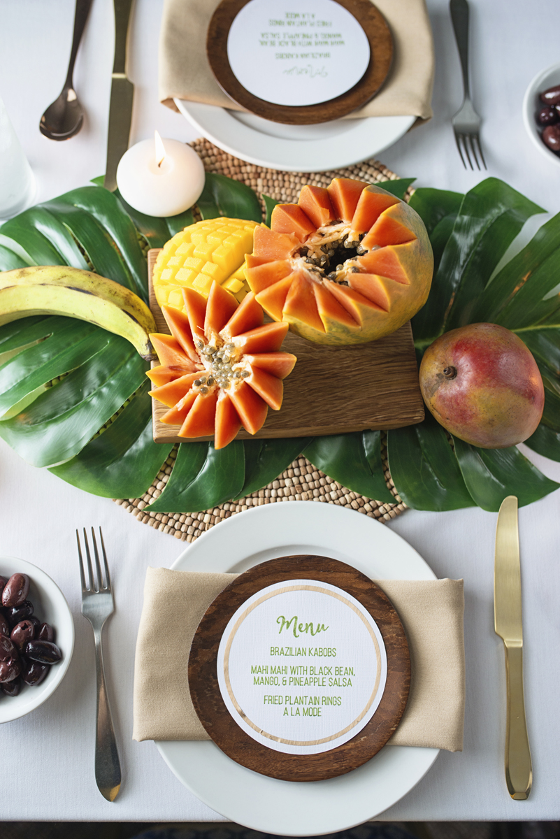 2016 Rio Olympics Styled Shoot | Papaya and Brazilian menu