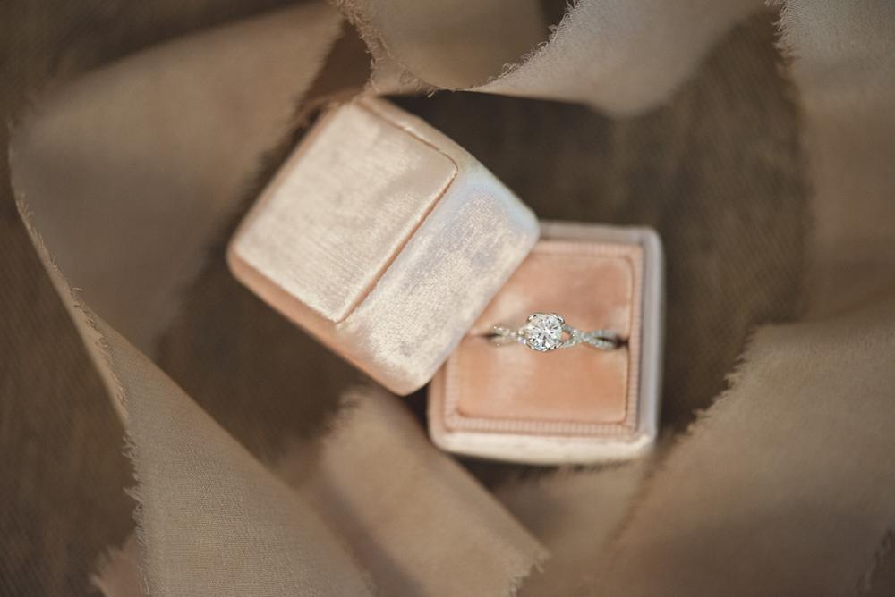 Elegant Lavender Plantation Elopement | Blush The Mrs. Box ring shot
