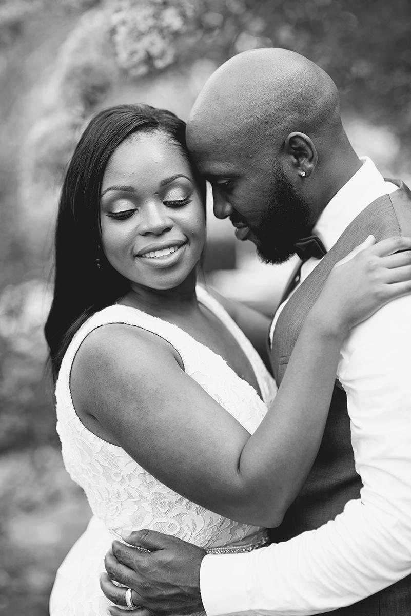 Elegant Lavender Plantation Elopement | Bride + groom portraits