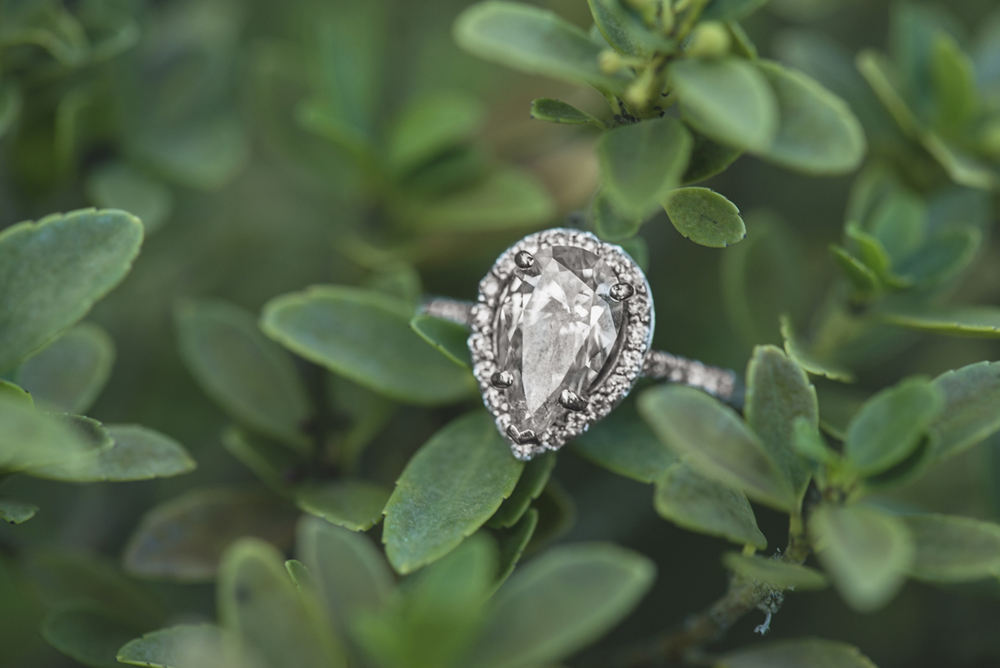 Stunning Heart Shaped Diamond Ring Shot