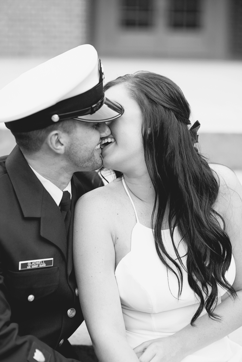 Coast Guard Military High Fashion Engagement Session