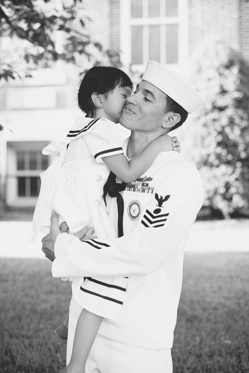 Father Daughter Navy Outfit Family Portraits