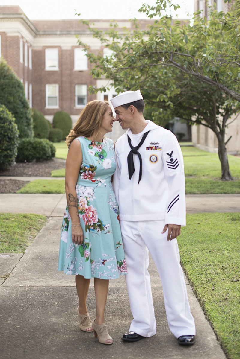 US Navy Military Couples Portraits in Virginia