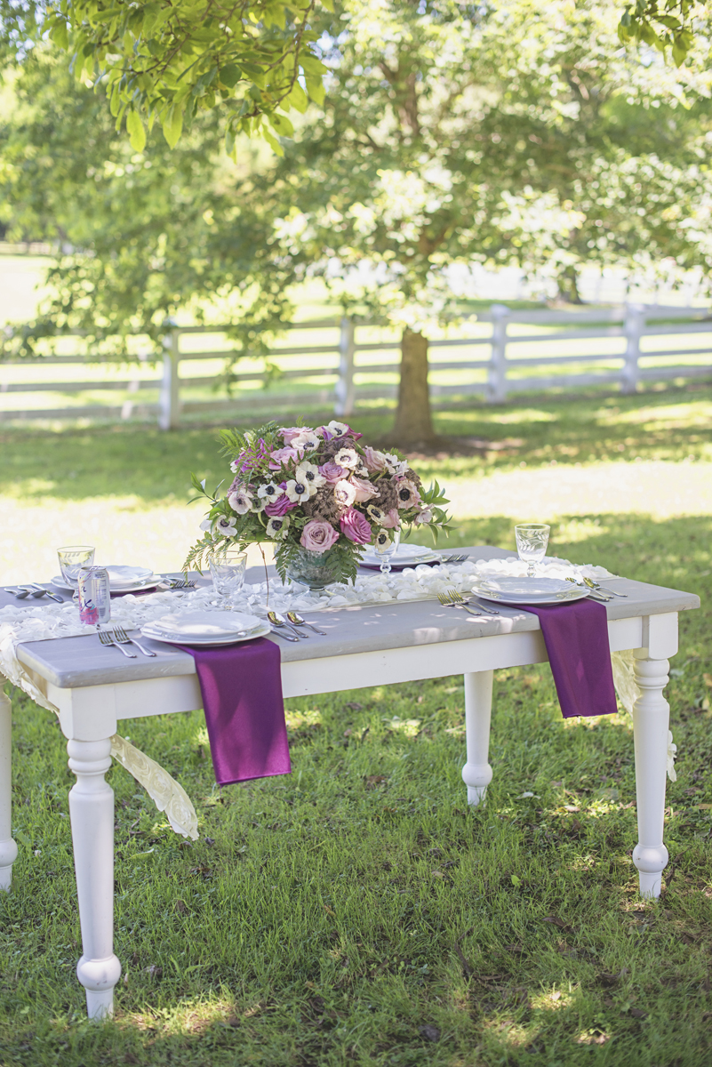 Elegant Southern Style Mansion Wedding | Gray and Lavender | Gray reception table