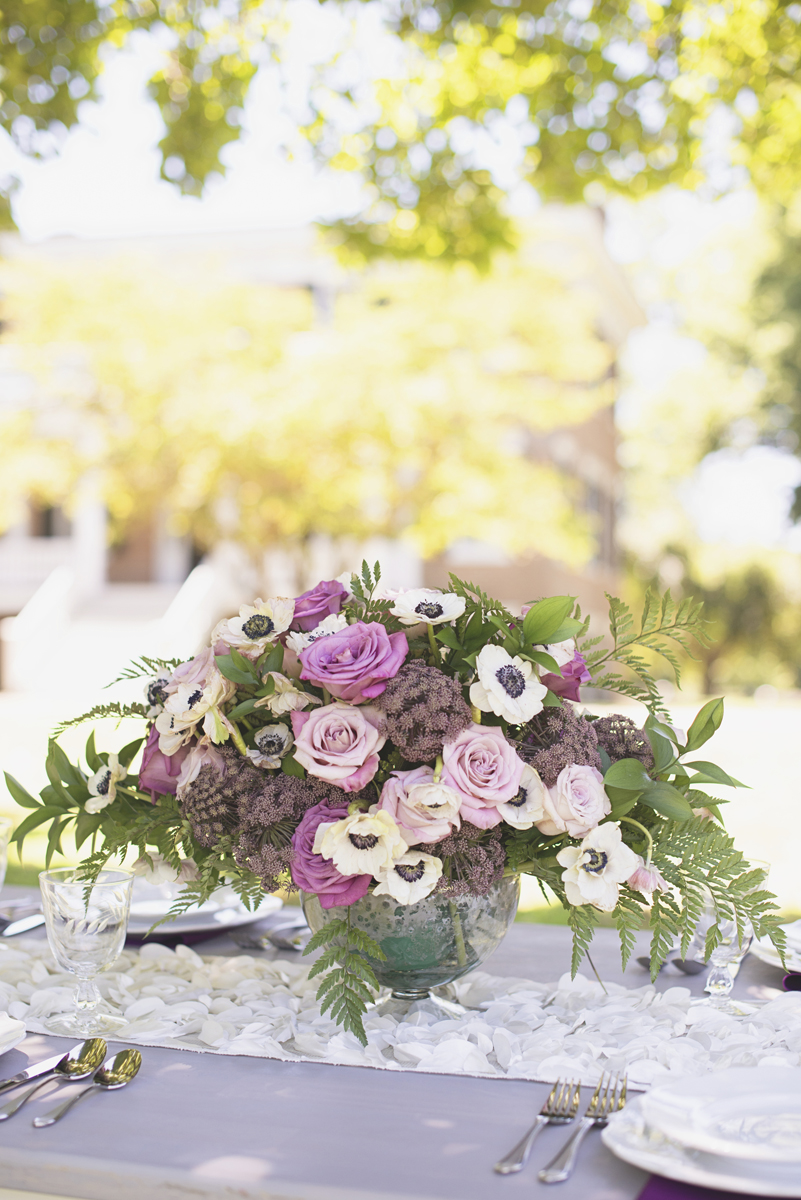 Elegant Southern Style Mansion Wedding | Gray and Lavender |