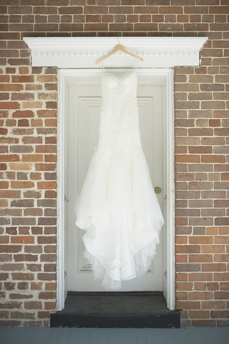 Elegant Southern Style Mansion Wedding | Gray and Lavender | Bride's Dress