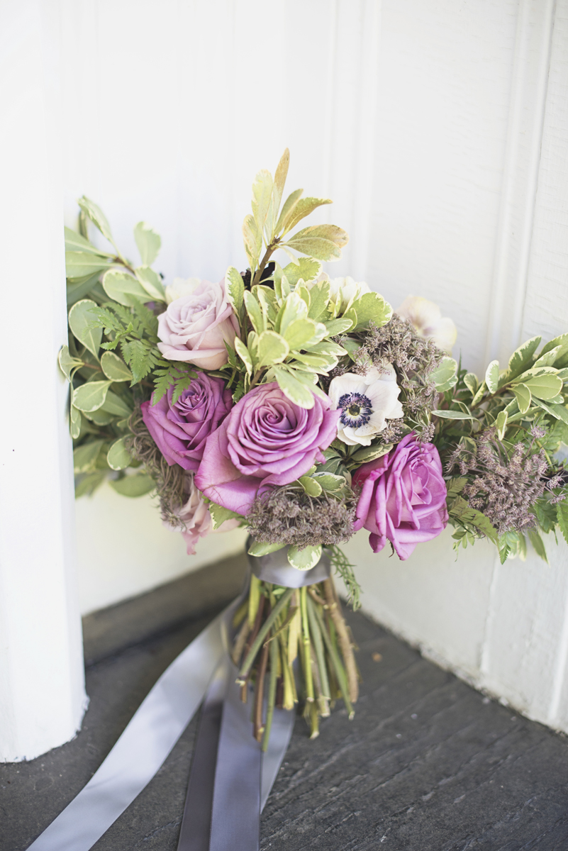 Elegant Southern Style Mansion Wedding | Gray and Lavender Bridal Bouquet