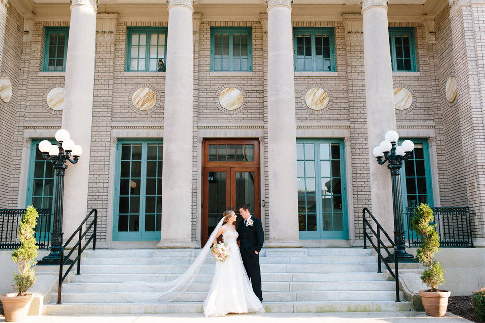 Architecture Inspired Historic Post Office Elegant Downtown Wedding