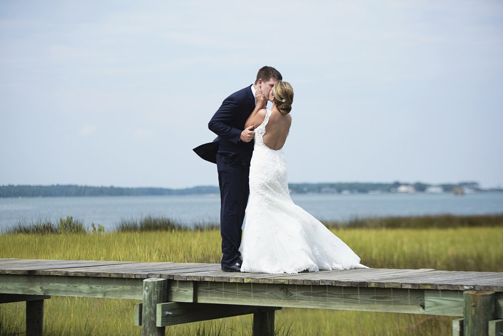 Nautical Navy Virginia Wedding | Navy Blue Wedding Colors | Bride + Groom First Look