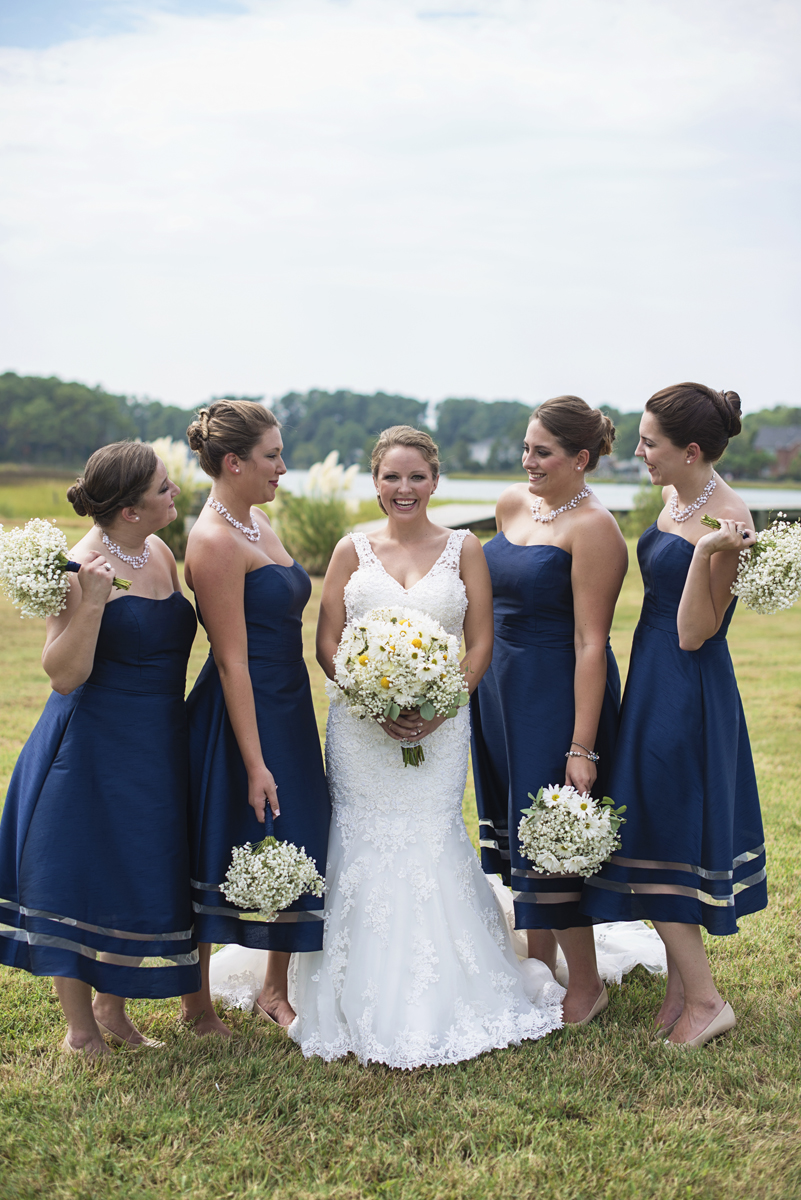 Nautical Navy Virginia Wedding | Navy Blue Wedding Colors | Navy Blue Bridesmaid Dresses