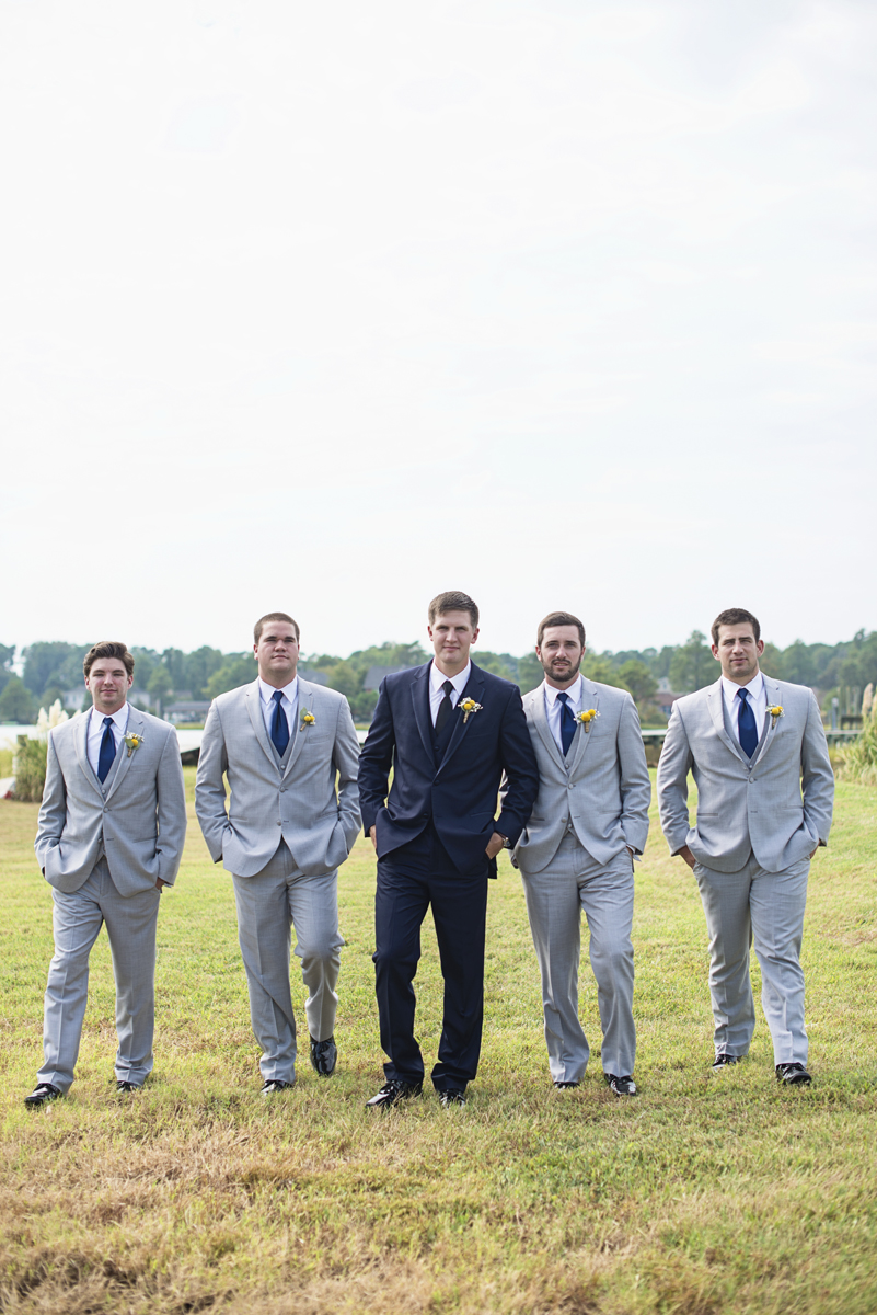 Nautical Navy Virginia Wedding | Navy Blue Wedding Colors | Gray and Blue Groomsmen Suits