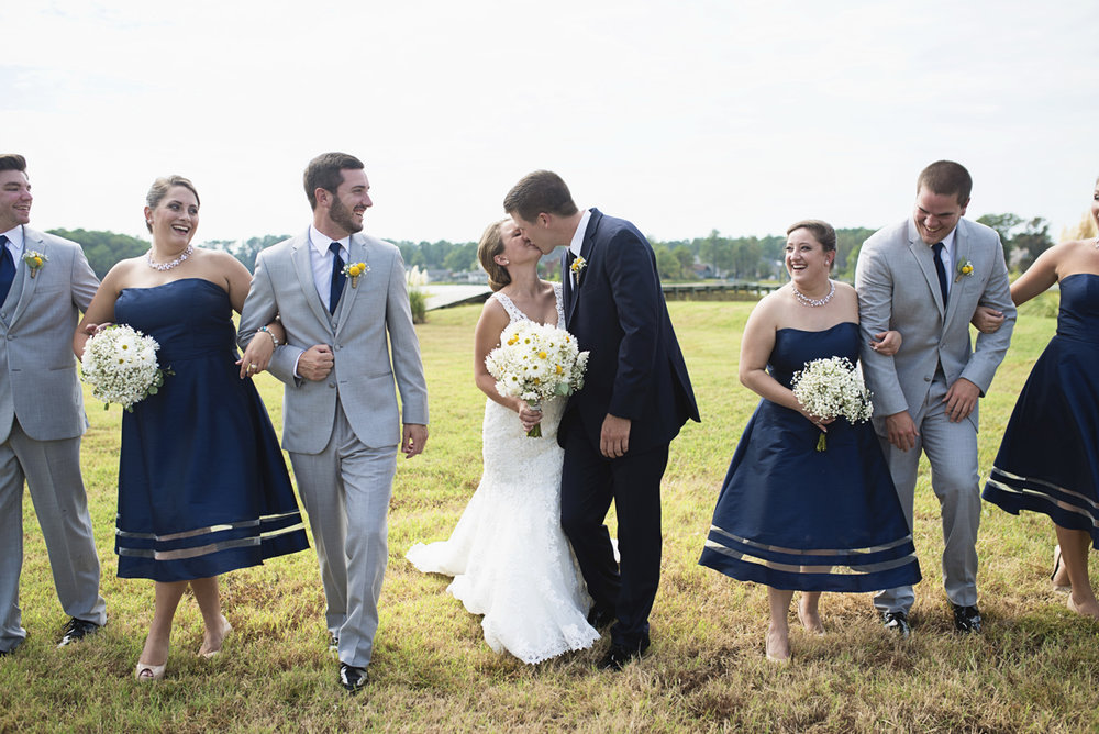Nautical Navy Virginia Wedding | Navy Blue Wedding Colors | Navy Blue and Gray Bridal Party