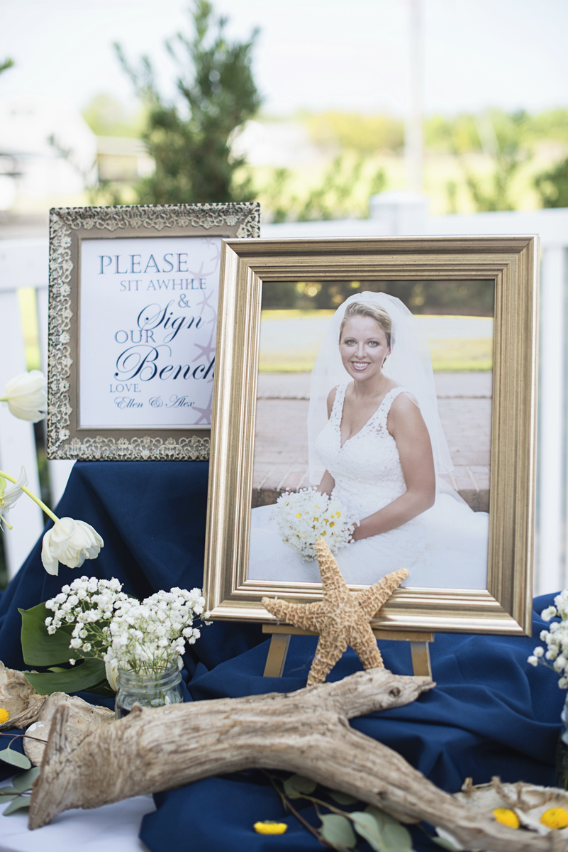 Nautical Navy Virginia Wedding | Navy Blue Wedding Colors | Nautical seashell reception details