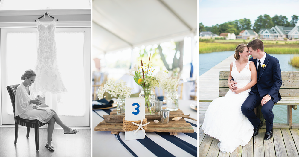 Nautical Navy Virginia Wedding | Navy Blue Wedding Colors