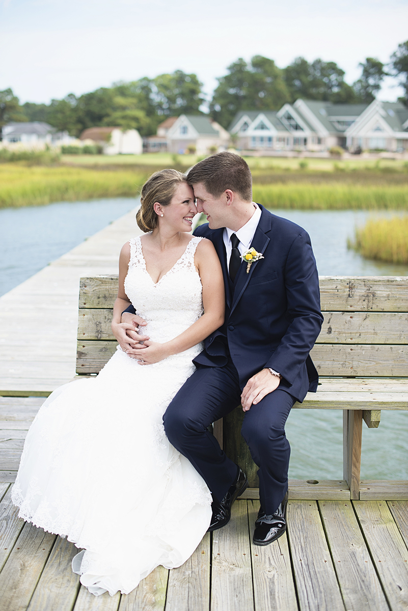 Nautical Navy Virginia Wedding | Navy Blue Wedding Colors | Bride + Groom First Look