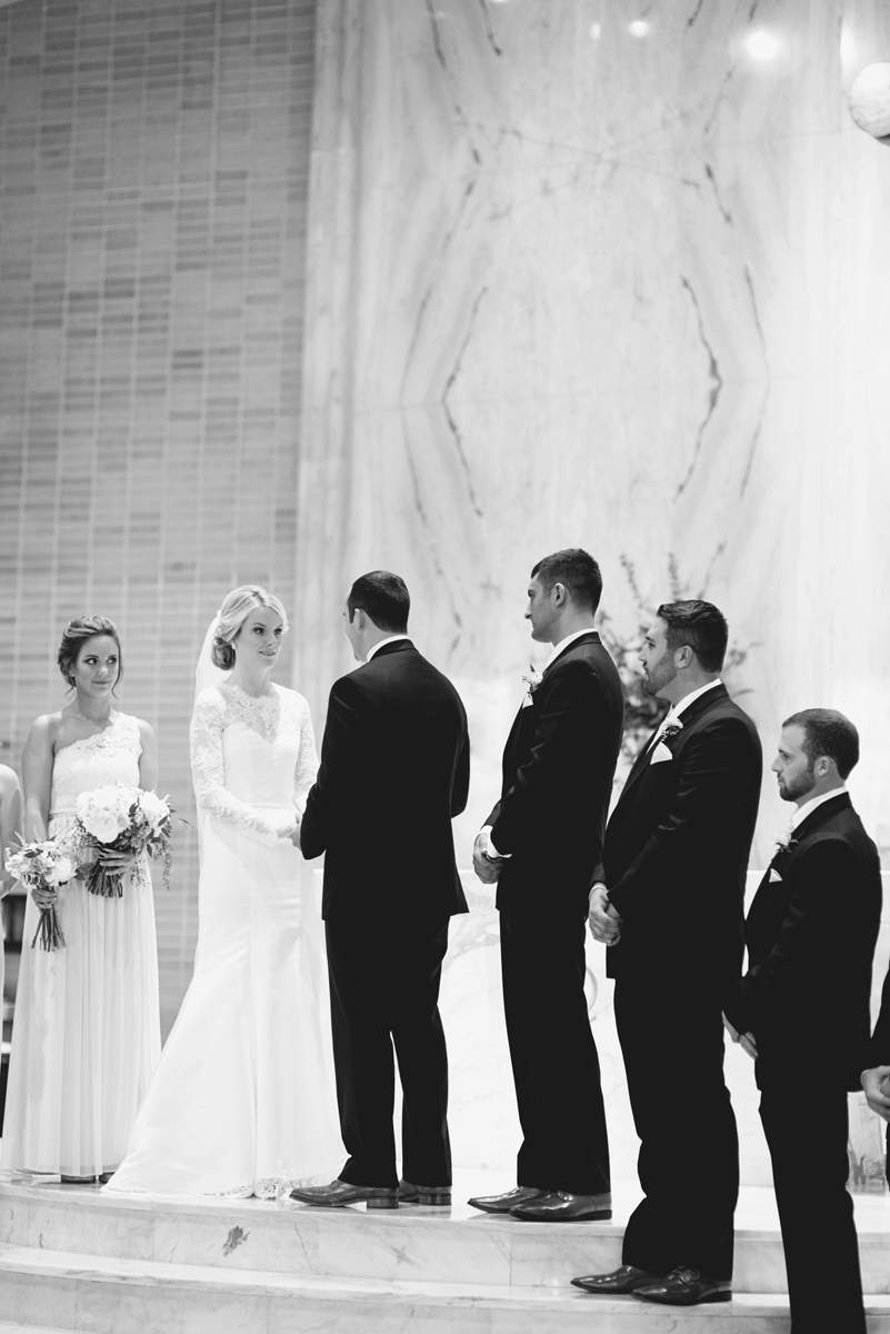 Elegant Gray, Navy, and White Wedding | The Old Mill at Rose Valley Pennsylvania Wedding | Traditional Catholic wedding mass ceremony