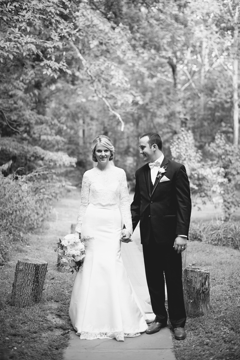 Elegant Gray, Navy, and White Wedding | The Old Mill at Rose Valley Pennsylvania Wedding | Bride and groom portraits