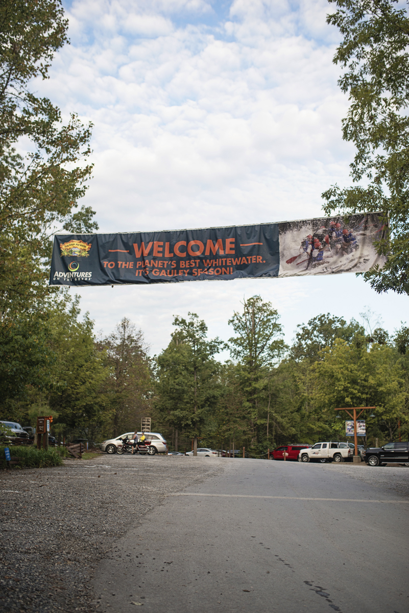 Adventures on the Gorge, West Virginia | Upper Gauley Rafting Sign