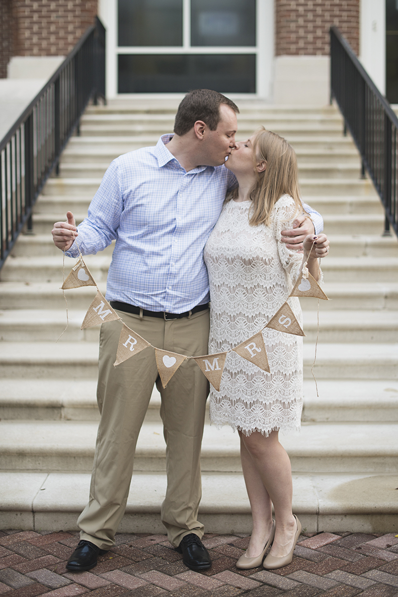 Virginia Beach Courthouse Elopement | Intimate Fall Wedding Ceremony