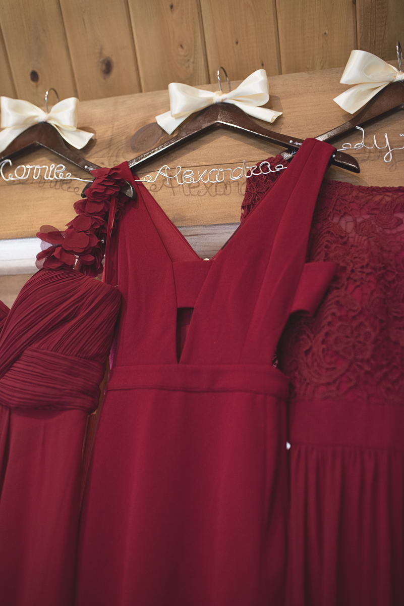 Adventures on the Gorge Destination Wedding | Maroon + Orange Wedding | Maroon bridesmaid dresses