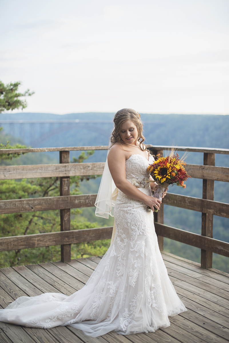 Adventures on the Gorge Destination Wedding | Maroon + Orange Wedding | Bridal portrait