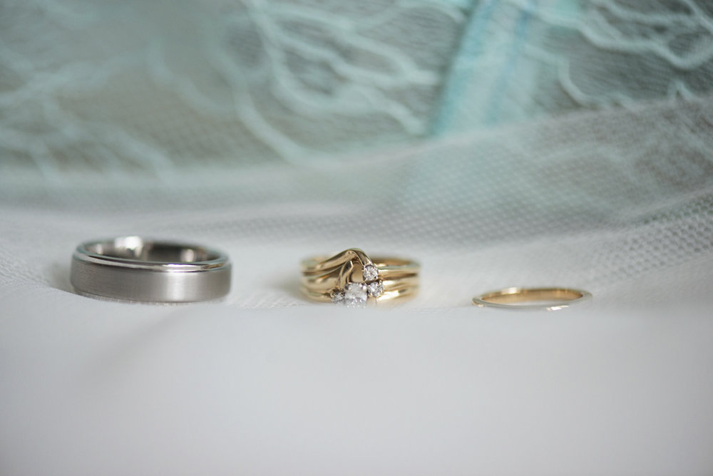 Teal, White, and Gold wedding | Richmond Virginia Wedding | Wedding ring shot