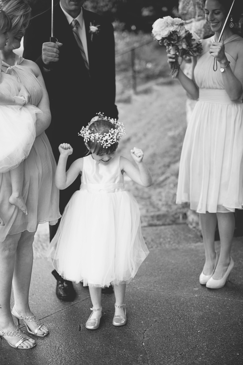 Teal, White, and Gold wedding | Richmond Virginia Wedding | Flower girl with flower crown