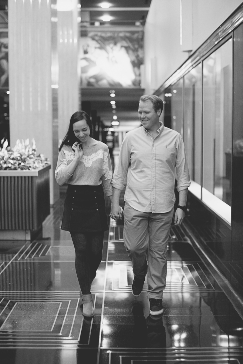Rainy Day Manhattan New York Engagement Session