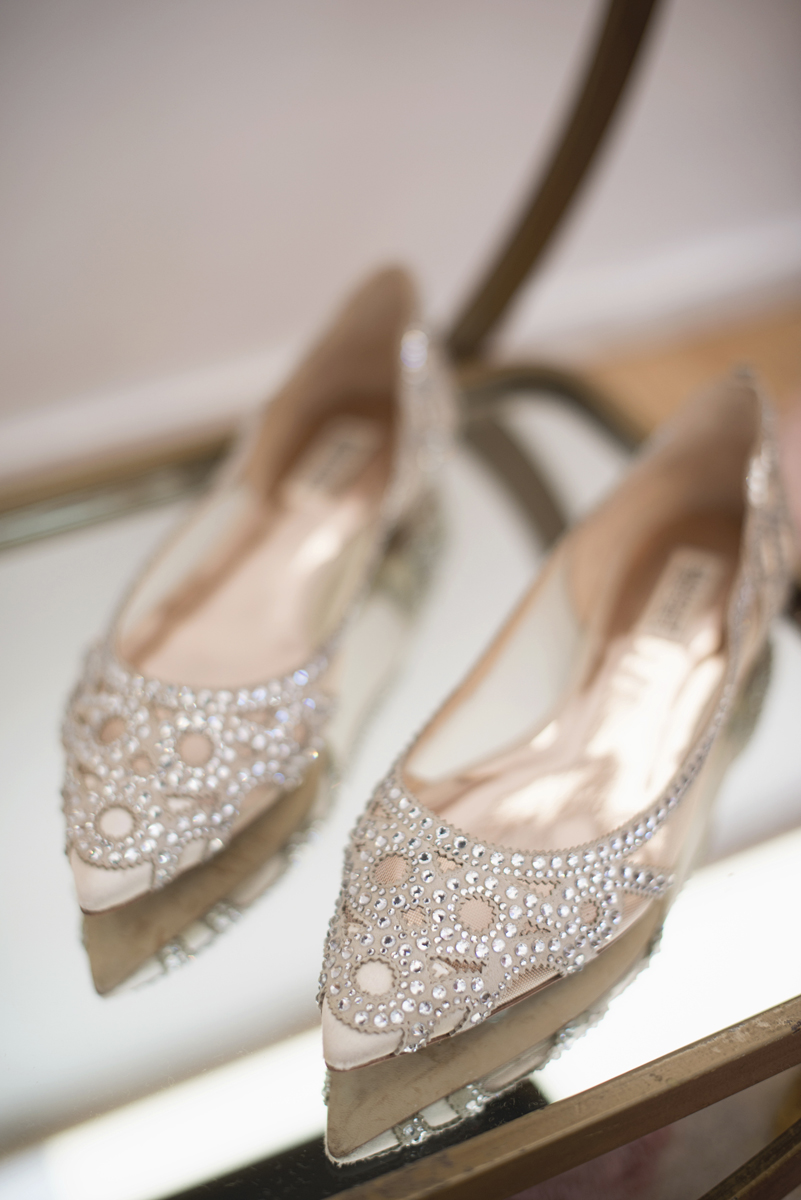 My New York Bridal Fashion Week Adventure | Badgley Mischka rose gold shoes