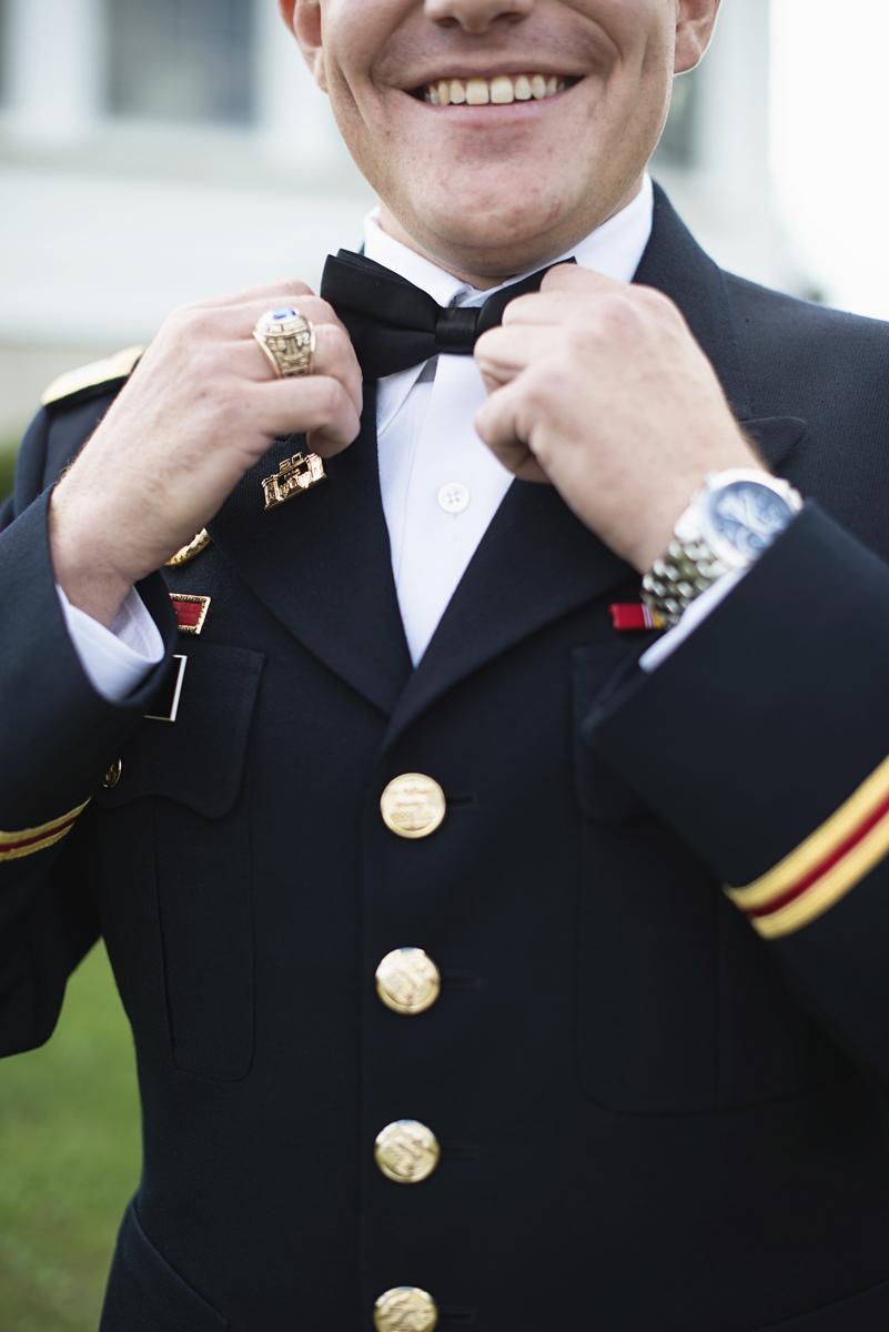 Orange and Maroon Virginia Tech Fall Wedding | Zion Springs Bed + Breakfast | Marine corps groom