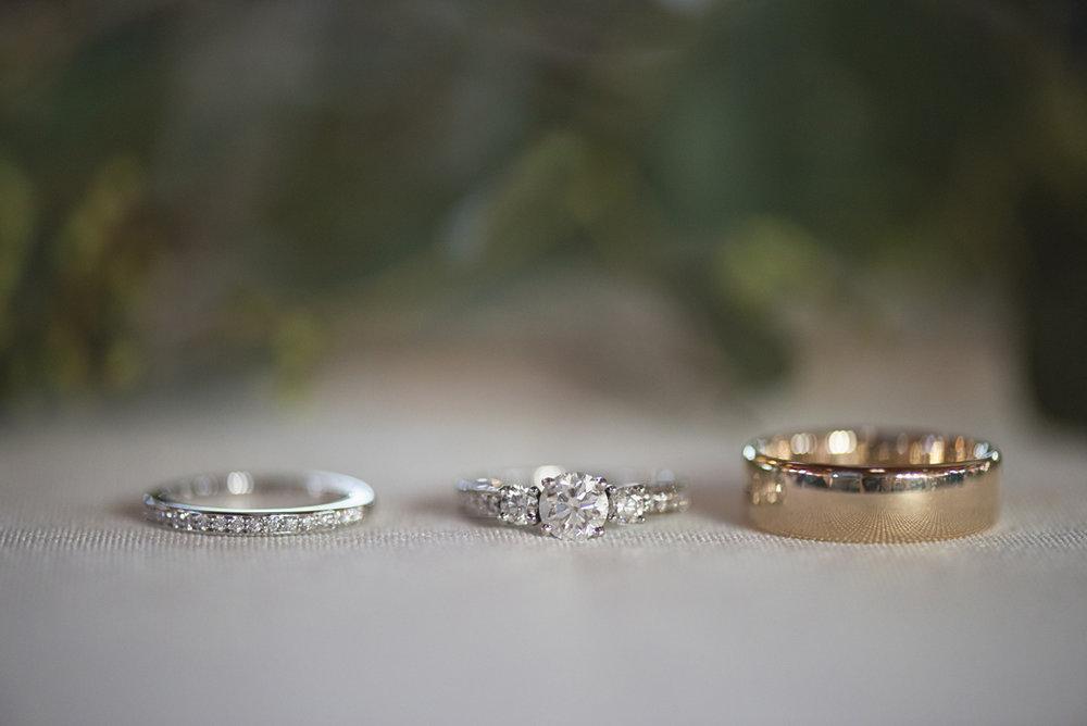 Orange and Maroon Virginia Tech Fall Wedding | Zion Springs Bed + Breakfast | Wedding rings