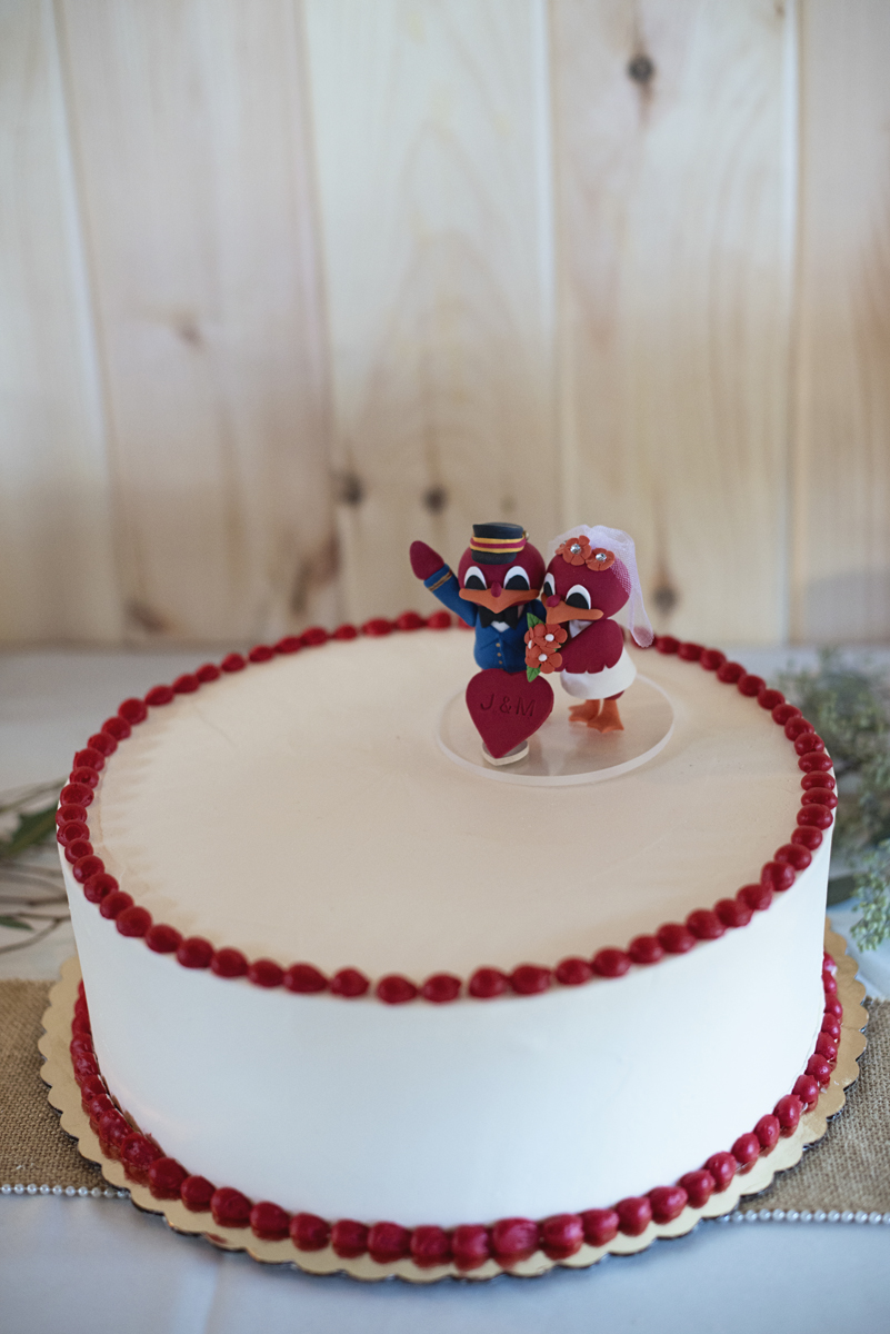 Orange and Maroon Virginia Tech Fall Wedding | Zion Springs Bed + Breakfast | Virginia Tech Hokie cake