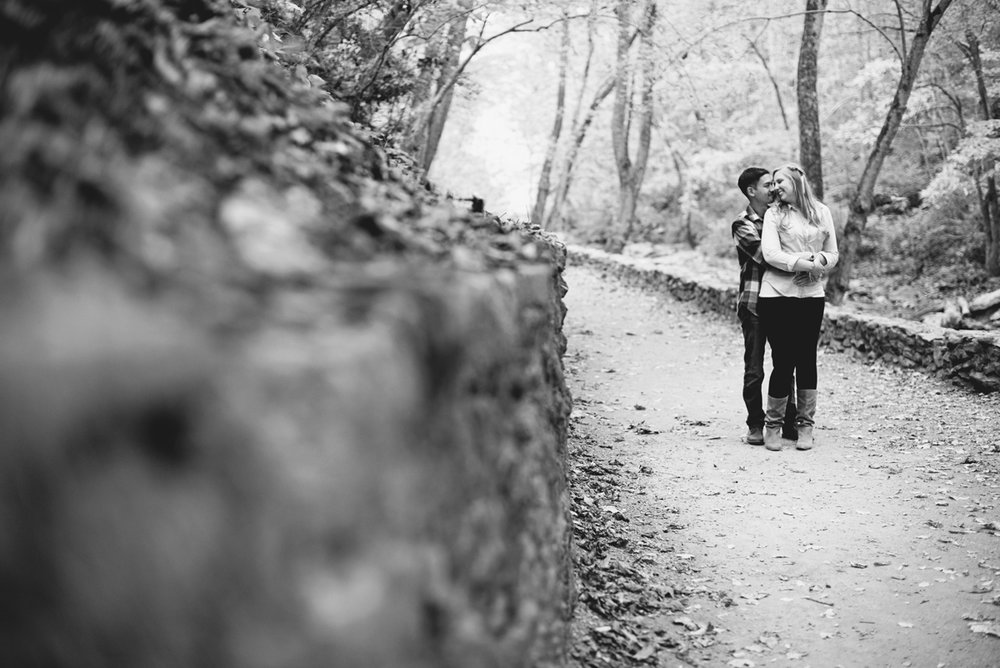 Adventurous Natural Bridge Engagement Session | Fall Engagement Session