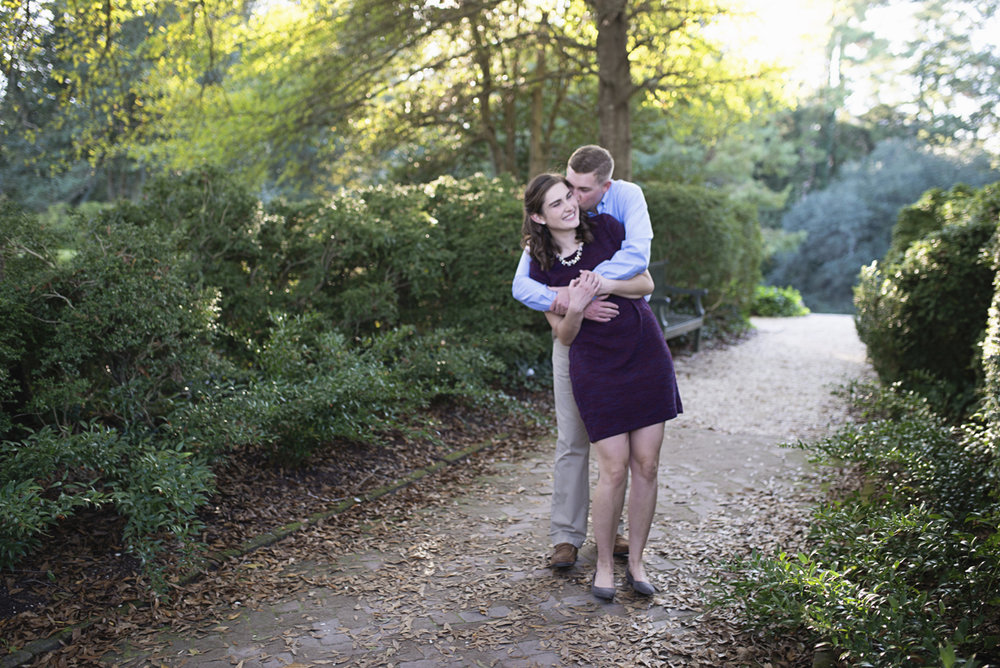 Classic Plum and White Fall Engagement Session | William and Mary Campus